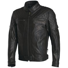 Richa Memphis Leather Jacket - Black