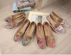SIKETU Plus Size Floral Loafer Flat Shoes