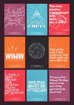 Sylvia Plath Typographic Collection | Designed by Mauro Hernandez (1 of 5)