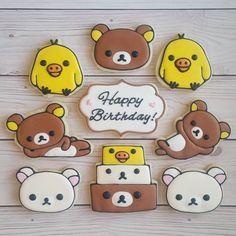 Rilakkuma cookies! #decoratedcookies #cookies  #rilakkuma #rilakkumacookies #yxe #yxebaking @rilakkumaus @rilakkuma_na