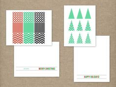christmas card DIY with printables