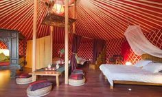 From Polynesian-style daybeds in super-luxe yurts to a therapeutic escape in a tipi, here are Europe's best 'glamping' experiences