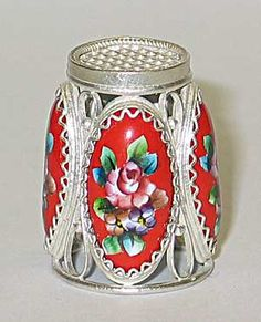 Russian thimble Dedal para coser