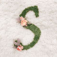 Traditional Custom Letter - Yellow and Coral Florals Garden Nursery, Floral Letters, Photo Props, Fairytale, Wedding Gifts, Coral, Wreaths, Lettering, Traditional