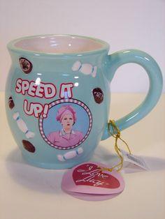 I Love Lucy Speed It Up! Mug /Coffee Cup NIB