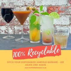 Ditch your disposables! Harfieild Barware, use again and again #disposables #barware #cocktail #recyclable