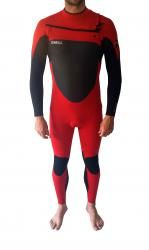 O'Neill Superfreak FZ 3/2 Wetsuit red/black/red