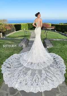 Ginny's Bridal Collection carries a selection of couture wedding dresses, designer gowns and affordable bridal dresses, plus size wedding gowns, headpieces and accessories. Stunning Wedding Dresses, Perfect Wedding Dress, Beautiful Gowns, Blue Bridesmaid Dresses, Bridal Dresses, Sheath Wedding Gown, Plus Size Wedding Gowns, Couture Wedding Gowns, Bridal Collection