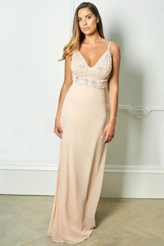e5081fd9 Buy Sistaglam Loves Jessica Rose Strappy Embellished Bodice Maxi Dress from  the Next UK online shop