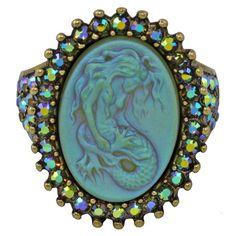 Kirk's Folly Mermaid ring Mermaid Ring, Mermaid Jewelry, Jewel Of The Seas, Jewelry Sites, Beaded Rings, Dream Ring, I Love Jewelry, Diamond Are A Girls Best Friend, Flower Brooch