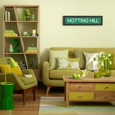Green love - and cool bookcase!