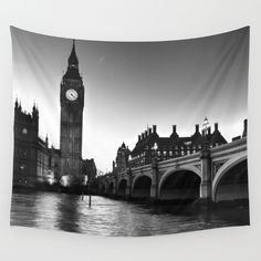 Black and white image of Westminster Bridge the houses of parliament and Big Ben at sunset<br/> <br/> <br/> <br/> <br/> <br/> big Ben, houses of parliament, parliament, london, Westminster, Westminster bridge.