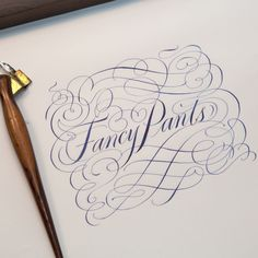 #tbt Sketch from the dead-letter office. (lettering design not used) #calligraphy #flourishing #copperplate