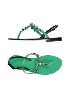 NANNI Women's Toe strap sandal Green 7 US