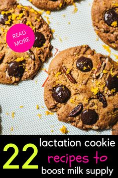 Lactation cookies to increase your milk supply fast. If you've got a low breastfeeding milk supply, try these cookie recipes! They're delicious, filling and full of milk boosting goodness! Dairy Free Recipes, Baby Food Recipes, Cookie Recipes, Lactation Recipes, Lactation Cookies, Breastfeeding Diet Plan, Boost Milk Supply, Best Diets To Lose Weight Fast, Filling Food