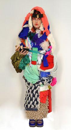 Donna Huanca #totem #fiber #art