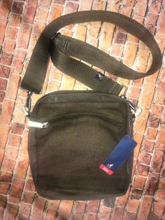 7e8a04e93 Details about NWT /RARE Olive Green Kangol WOOL/nylon Crossbody/convertible  Bag/purse Carryall