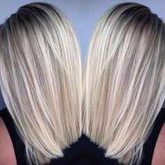 bright blonde lob :: RedBloom Salon