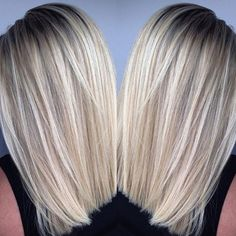 bright blonde lob :: RedBloom Salon