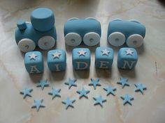 *SALE* HANDMADE EDIBLE TRAIN CAKE DECORATION SET BIRTHDAY CHRISTENING DECORATION | eBay
