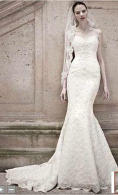 Used Oleg Cassini Wedding Dress CRL277, Size 2  50% off