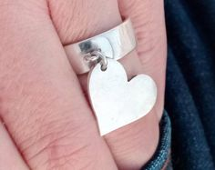 Sterling silver ring heart