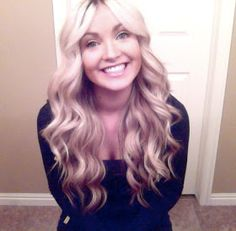 CARA LOREN: Wavy Curls Tutorial.   Keep curling iron upside down and don't clamp!