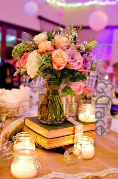 Someone wanted to show off their love of beautiful blooms AND great books. A wonderful combination.