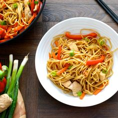 Easy Chicken Chow Mein In need of a quick, healthy evening meal? This chicken chow mein recipe is ready in under 25 minutes and is below 400 calories per serving. It also has just under two of your…