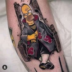 Cartoon Tattoos, Anime Tattoos, Funny Tattoos, Cute Tattoos, Hand Tattoos, Girl Tattoos, Sleeve Tattoos, Tatoo Geek, Tatuaje Old School
