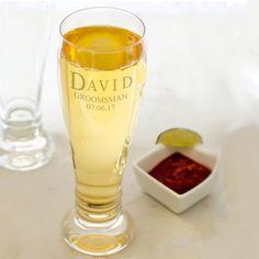 Custom Schott Zwiesel Bavaria Pilsner Beer Glass with personalization included