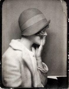 old photograph, vintage hat
