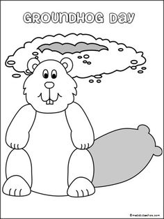 This is a FREE groundhog day coloring page available on Madebyteachers.com. Add it to your February activities.