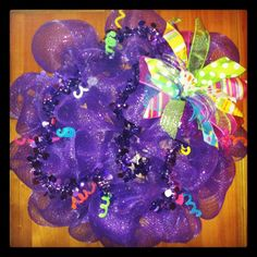 Just For FUN Mesh Wreath by MeshedUpCreations. Could be birthday wreath.