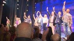 There were tears and happy reunions as Come From Away officially opened on Broadway Sunday night.