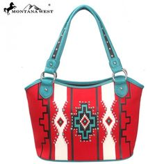 Montana West Western Aztec Collection Tote Handbag