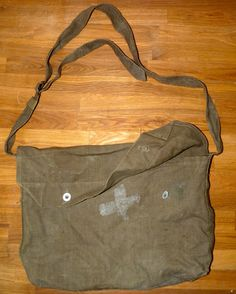 Canvas Military Issue Medic Satchel Bag by FourSailVintage on Etsy, $22.00