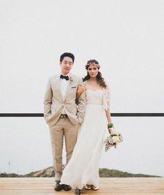 sweet bride + groom shot by Studio Castillero