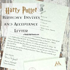Free Downloads To Create Your Own Harry Potter Party Invitations
