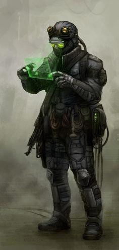 cyberpunk, military, futuristic, future soldier