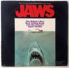 Jaws - Music from the Original Motion Picture Soundtrack LP Vinyl Record Album, MCA Records - MCA-2087, 1975, Original Pressing