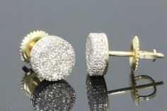 Mens/ladies 14k Yellow Gold Finish D/vvs1 Diamond Stud Earrings 1.33 Ct Fine Jewelry Fine Earrings