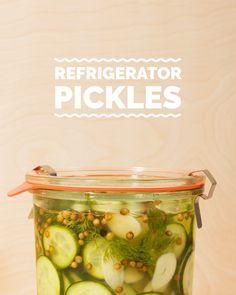 Refrigerator Pickles // Wit & Vinegar