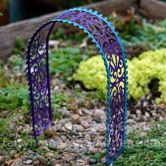 Fairy Homes and Gardens - Fairy Garden Filigree Arbor, $8.40 (https://www.fairyhomesandgardens.com/fairy-garden-filigree-arbor/) #fairyfurniture