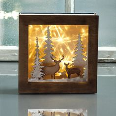 Your story-in a box: Hirsch und Reh – Bastelidee – Rayher Your story-in a box: Hirsch und Reh – Bastelidee – Rayher Shadow Box Kunst, Shadow Box Art, Pink Christmas, Christmas Crafts, Christmas Decorations, 3d Paper Crafts, Paper Toys, Pvc Backdrop Stand, Box Noel