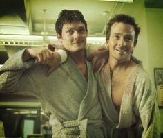 Connor and Murphy, being all heroic in bathrobes like it's nothing