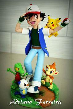 Image may contain: 1 person Pokemon Party, Pokemon Birthday, Pokemon Fan, Pokemon Cake Topper, Cake Toppers, Pokemon Cakes, Pikachu Cake, Movie Cakes, Cool Pokemon Cards
