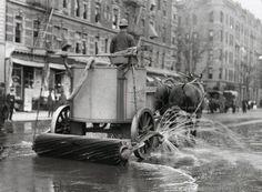 Street cleaner. New York City, c 1920s
