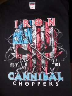 Iron Cannibal Choppers T Shirt Size XL Black #Unbranded #GraphicTee