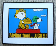 PEANUTS SNOOPY WW1 FLYING ACE SALLY FOOD FRAMED POSTER | eBay